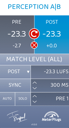 Best mastering meter plugin. Perception AB